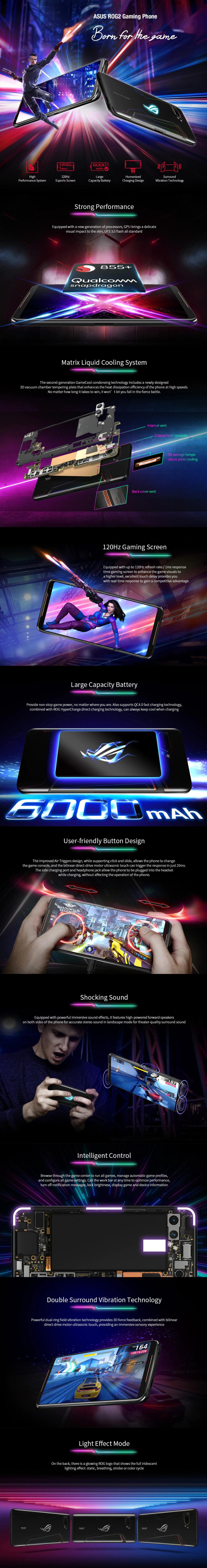 ASUS ROG2 Gaming Phone 4G Phablet