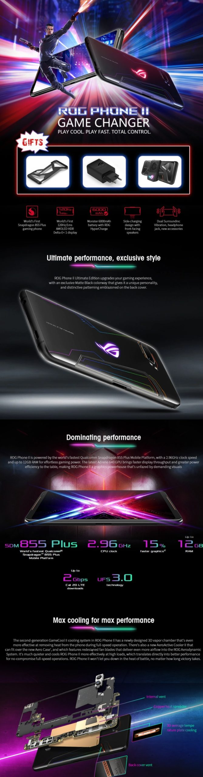 Black Friday Asus Sale - ASUS ROG Phone 2 Gaming 4G Smartphone