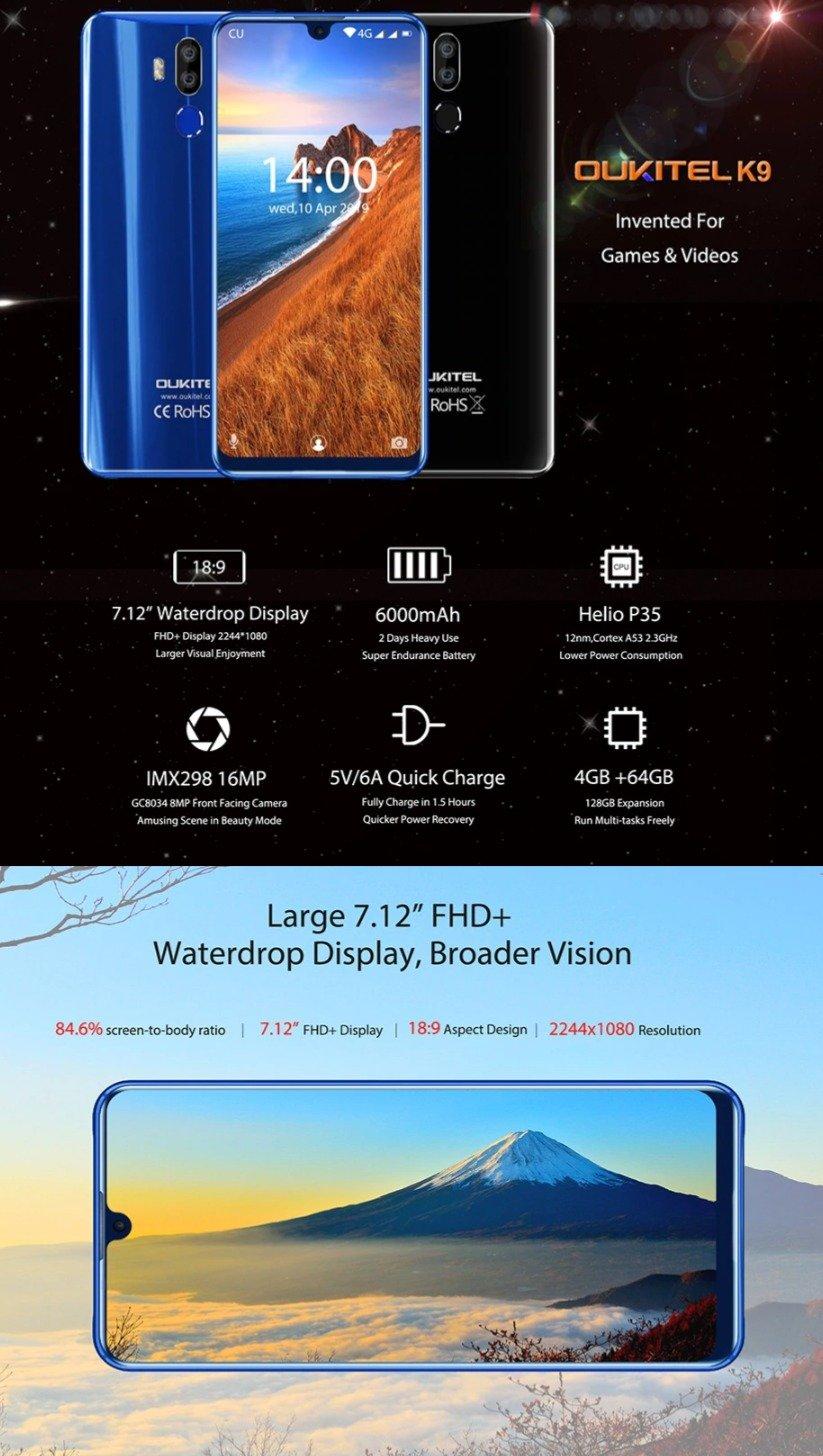 Christmas deals 2019-UKITEL K9 4G Phablet
