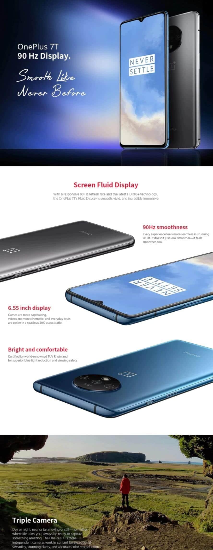 Oneplus 7T 4G Smartphone - Cyber Monday Best Deals 2020