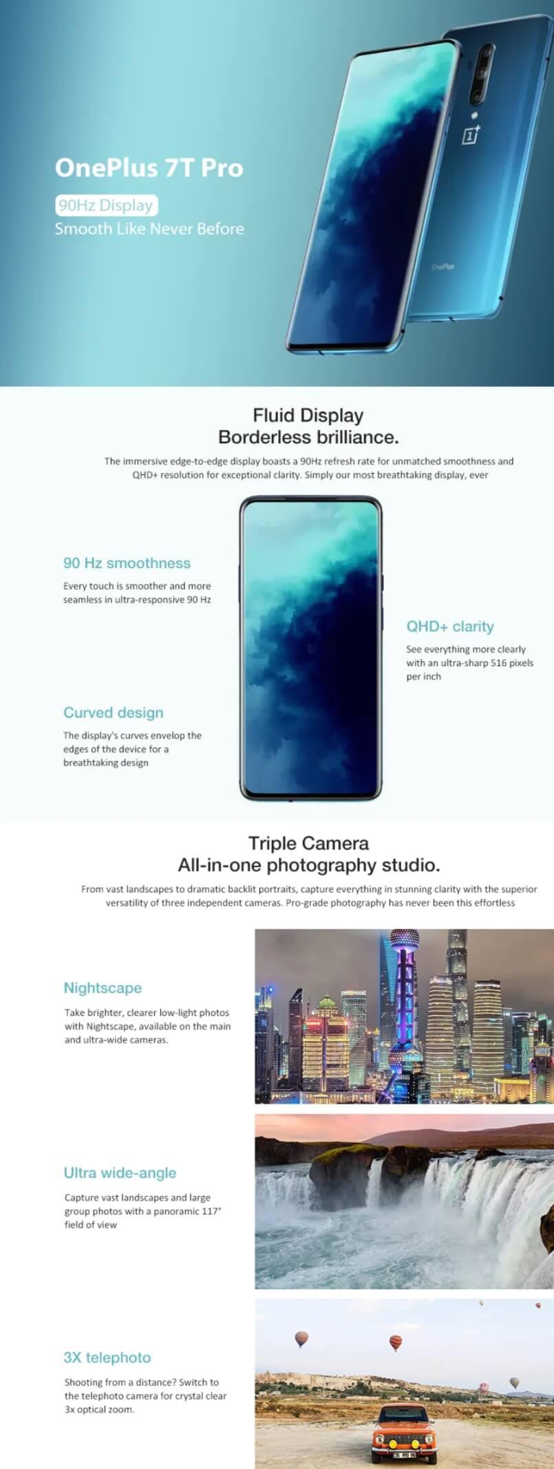 Oneplus 7T Pro 4G Smartphone
