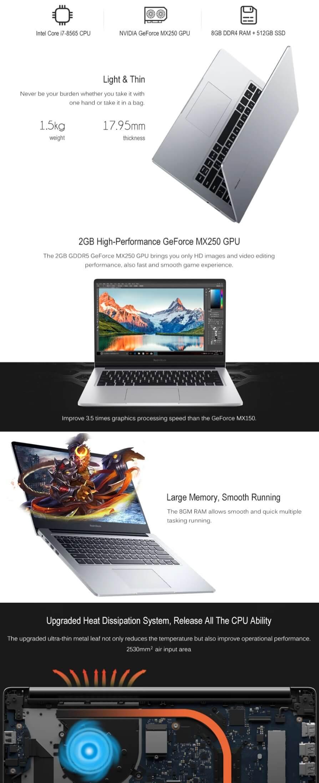 Xiaomi RedmiBook 14inch Laptop - Cyber Monday Best Deals 2020